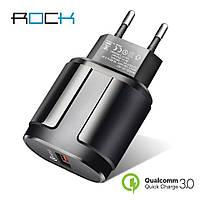 Быстрая зарядка ROCK Qualcomm QC 3.0 4.0 быстрое зарядное устройство для мобильного телефона