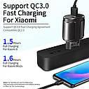 Быстрая зарядка ROCK Qualcomm QC 3.0 4.0 быстрое зарядное устройство для мобильного телефона, фото 4