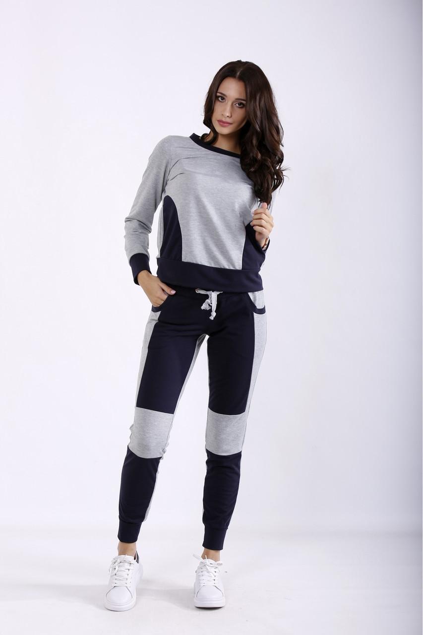 01251-1   Сірий з синім спортивний костюм