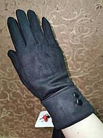 Замш с сенсором тонкий женские перчатки для работы на телефоне плоншете стильные только оптом, фото 1
