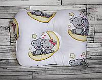 """Ортопедическая подушка для новорожденных """"мишки на луне""""."""