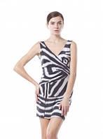 Платье летнее масло ткань зебра, платье черное с декольте красивое, платье повседневное, фото 1