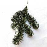 Ветка ели литая зеленая 32 см (от 10 шт), фото 2
