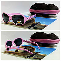 Очки солнцезащитные с поляризацией в розовой оправе (код 3350), детские