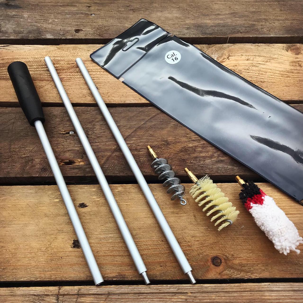 Набор для чистки охотничьего оружия 16 калибр (ПВХ чехол)