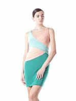 Платье летнее масло ткань, платье повседневное молодежное бирюзовое, с декольте красивое, фото 1