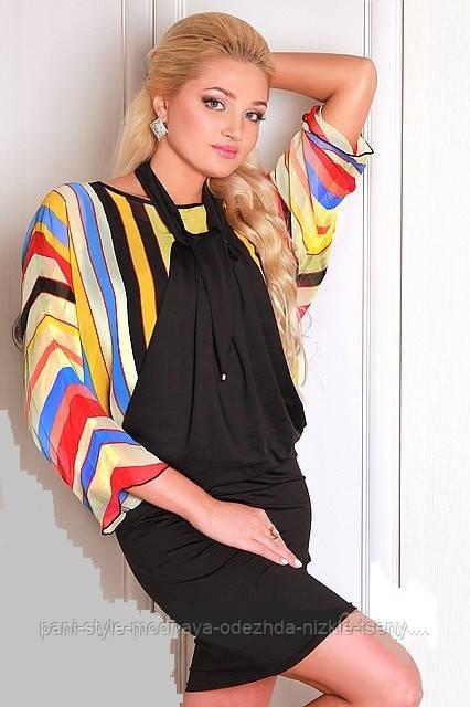 Плаття-туніка з кольоровими вставками
