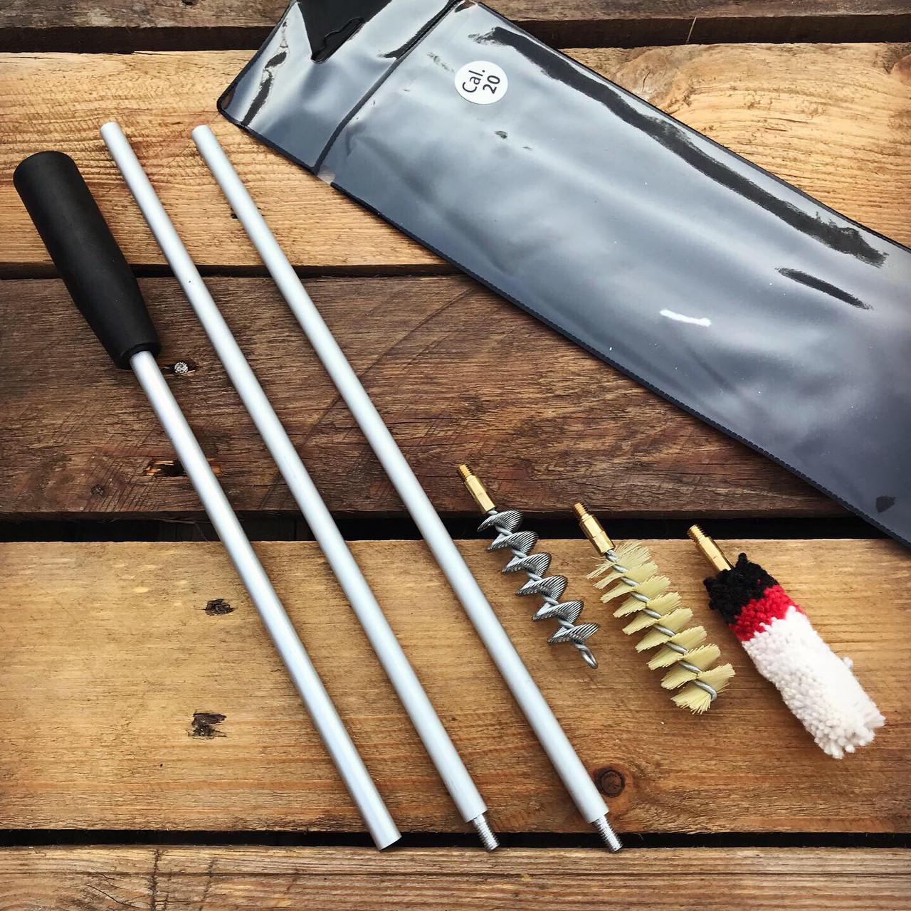 Набор для чистки охотничьего оружия 20 калибр (ПВХ чехол)