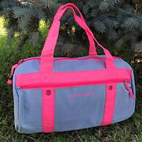 Спортивная сумка женская через плечо (розовая)