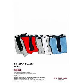 Мужское белье U.S. Polo Assn - Шорты Boxer 80064 серо-синие, L 1 шт