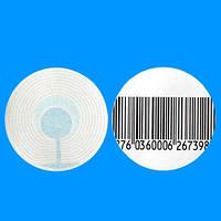 Антикражные этикетки (круг штрихкод)