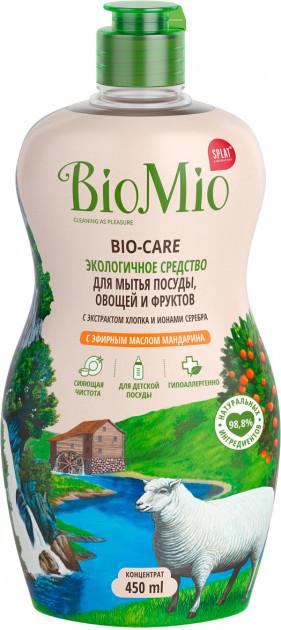 Средство для мытья посуды BioMio Bio-Care с эфирным маслом мандарина (450мл.)