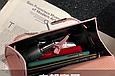 Сумка в стиле Эрмес Келли 20см / фурнитура серебро фактура крокодил / PU-кожа Розовый, фото 5