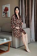 Леопардовый короткий халатик с узором, фото 2