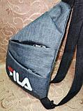 Барсетка FILA слинг на грудь мессенджер Унисекс/Cумка спортивные мессенджер для через плечо(ОПТ), фото 2
