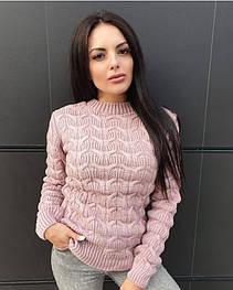 """Шерстяной свитер """"Лепестки"""", 42-48"""