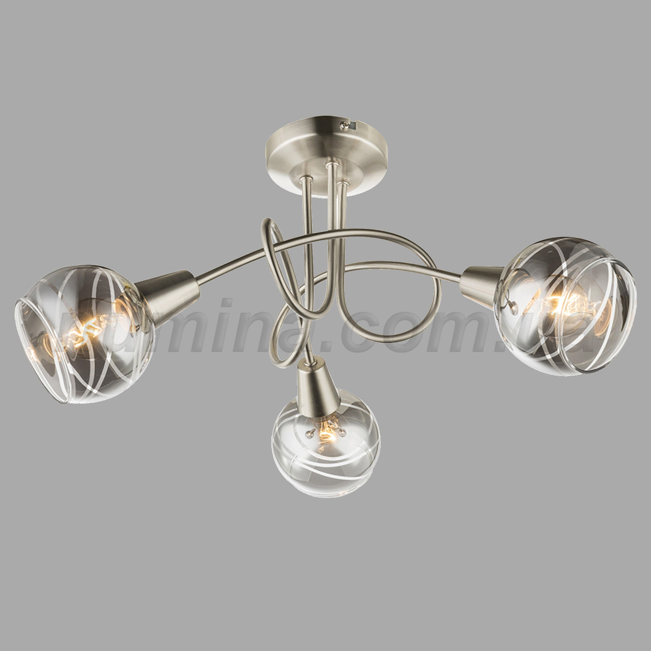 Люстра потолочная на три лампы 29-3179/3 SN+BR