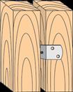 Уголок с шурупом ф 8,0