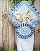 Двухсторонний велюровый конверт с вышивкой  для новорожденных весна-осень,   78*78 см