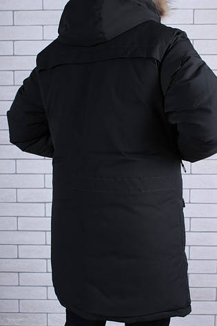 Подростковая зимняя куртка для мальчика р.146-170 черная, фото 2