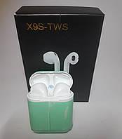 Наушники беспроводные Bluetooth аналог AirPods X9S-TWS с кейсом Power Bank