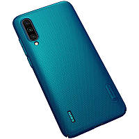 Nillkin Xiaomi Mi CC9 Super Frosted Shield Peacock Blue Чехол Накладка Бампер, фото 1