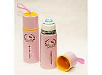 "Термос с чашкой ""Hello Kitty"", 350мл. Термос для жидкости. Термос питьевой. Детский термос"