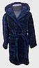 Халат детский махровый 2 года  Welsoft (TM Zeron), темно-синий Турция