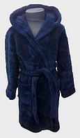 Халат детский махровый 2 года  Welsoft (TM Zeron), темно-синий Турция, фото 1