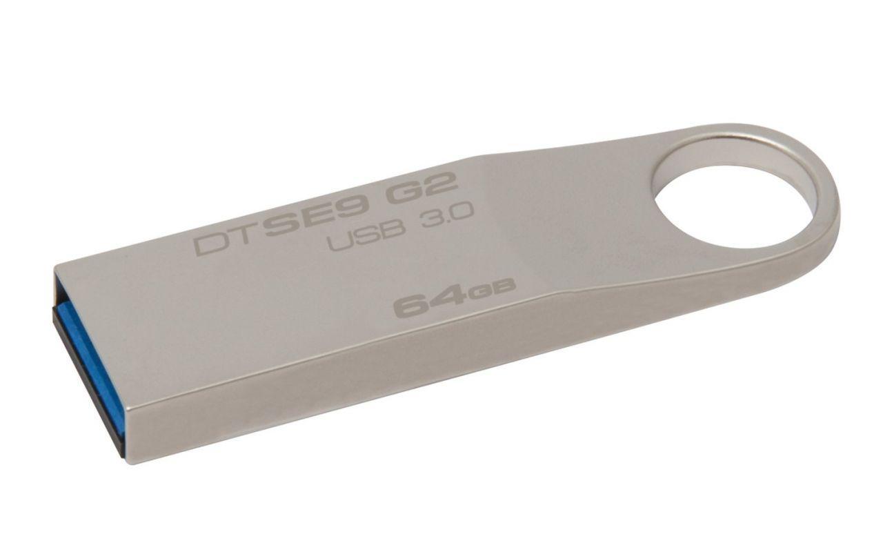 Флешка USB Kingston DTSE9 G2 64GB USB 3.0 (DTSE9G2/64GB) Metal Silver