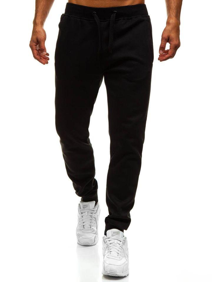 Мужские спортивные штаны Asos Асос на манжетах черные