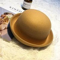 Шляпа женская котелок WildJazz фетровая бежевая, фото 1