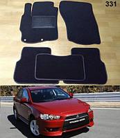 Коврики на Mitsubishi Lancer X (10), Evo X, Sb '07-. Текстильные автоковрики, фото 1