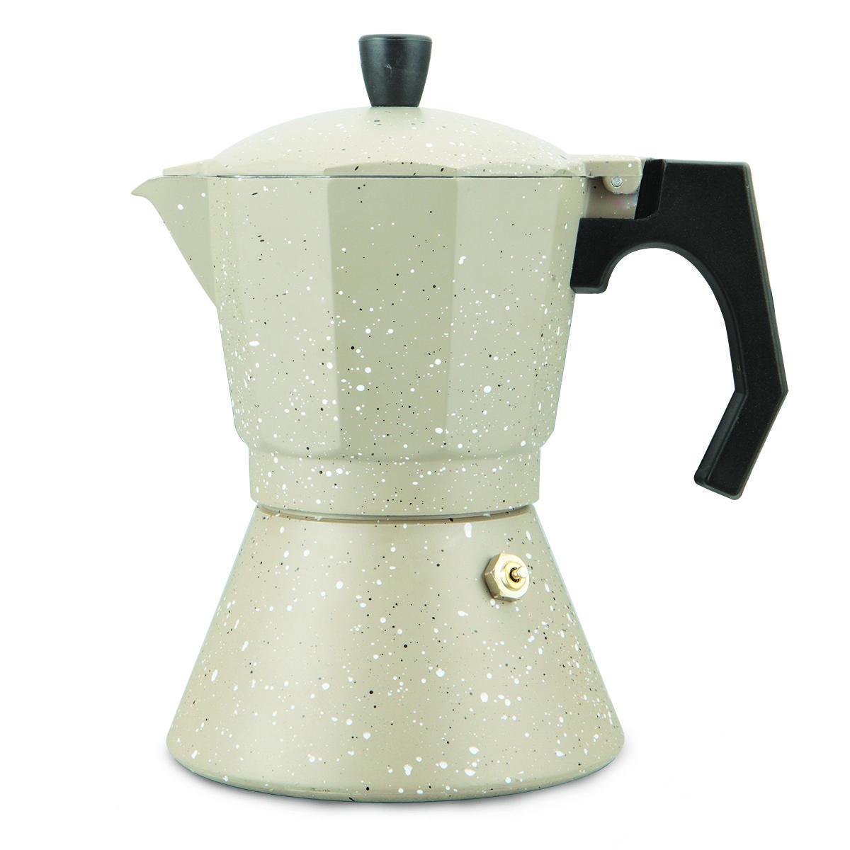 Кофеварка гейзерная 150мл (3 порции) из алюминия с широким индукционным дном