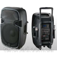 Колонка с радиомикрофонами JB15RECHARG400+MP3/FM/Bluetooth+DC-DC INVERTOR (400W800W (max))