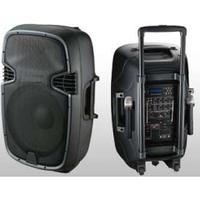 Колонка с радиомикрофонами JB15RECHARG400+MP3/FM/Bluetooth+DC-DC INVERTOR (400W800W (max)), фото 1