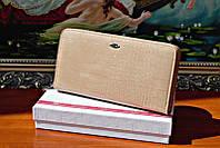 Женский кожаный кошелек клатч cossroll на молнии с ремешком отличное качество