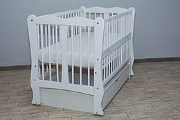 Кровать Хвилька шарнир шухляда откидной бок белый  Бесплатная доставка