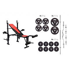 Набор Hop-Sport Strong 83 кг со скамьей HS-1055