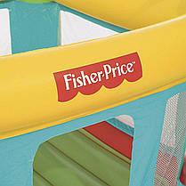 Надувной батут Bestway 93532 «Fisher Price», 175 х 173 х 135 см, со встроенным электронасосом, 50 игровых мяче, фото 3