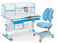 Комплект Evo-kids Evo 50 BL Blue (стол+ящик+надстройка+кресло)