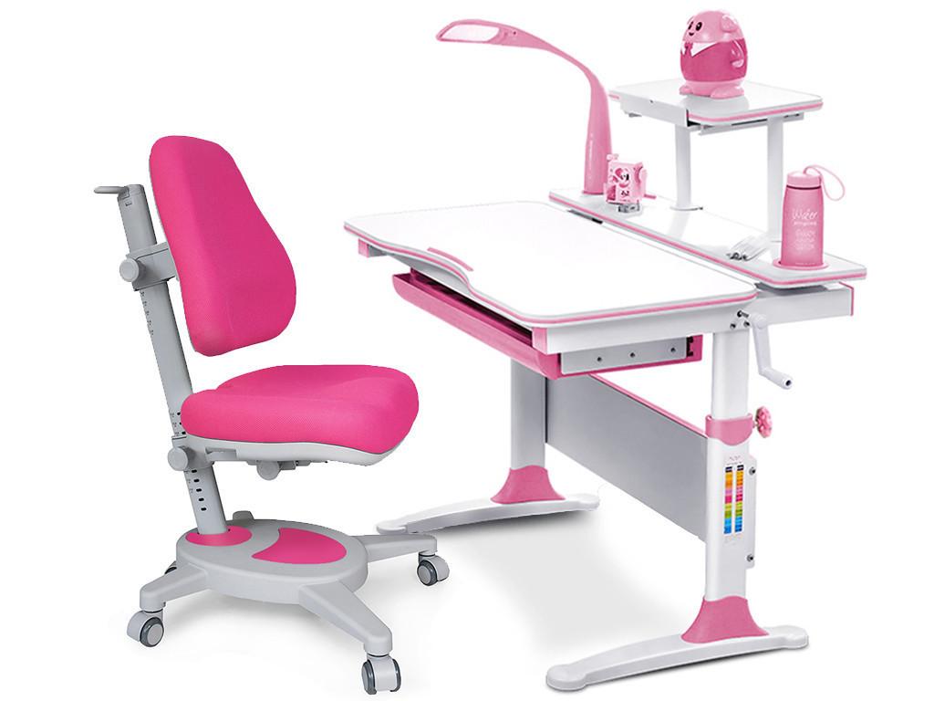 Комплект Evo-kids Evo-30 PN Pink  (стол+полка+кресло+лампа)