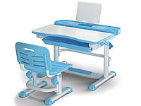 Комплект Evo-kids (стул+стол+полка) BD-04 B New (XL) Blue - столешница белая / цвет пластика синий