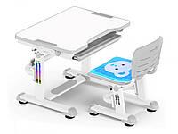 Комплект Evo-kids (стол+стул) BD-08 G - столешница белая / цвет пластика серый