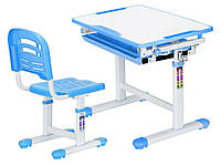 Комплект Evo-kids (стол+стул) Evo-06 Blue - столешница белая / цвет пластика голубой