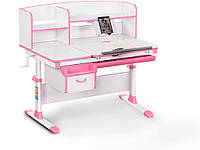 Детский стол Evo-kids (стол+ящик+надстройка) Evo-50 PN (Pink) - столешница белая / цвет пластика розовый