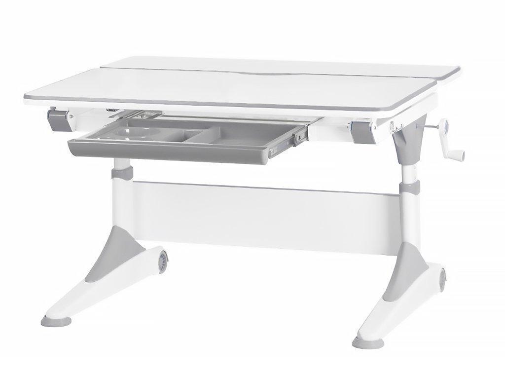 Стол Evo-kids Alberto Grey - столешница белая / ножки белые с серым
