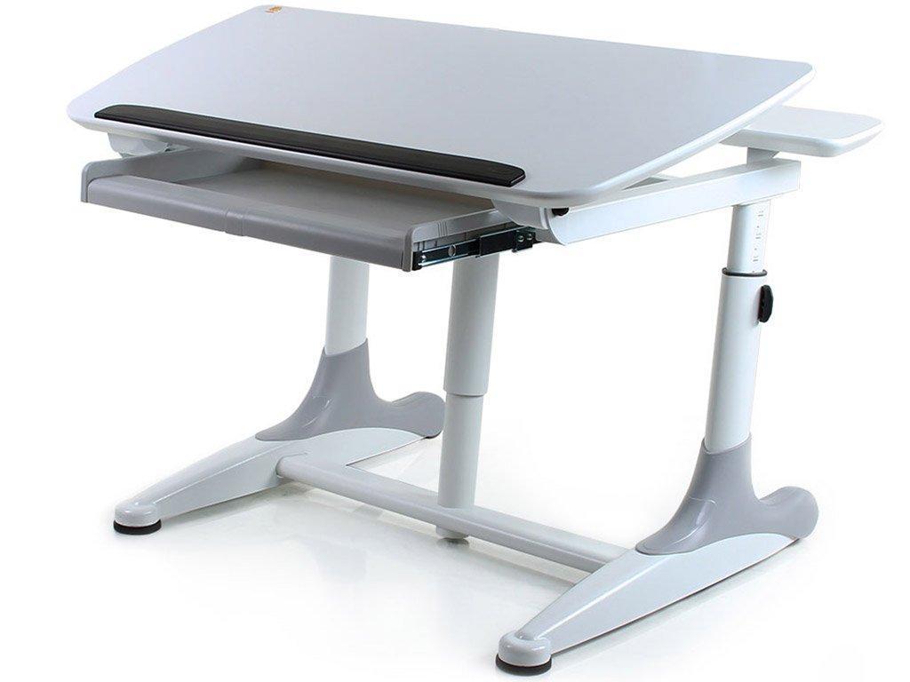 Стол Mealux Kant White (BD-311 White) - столешница белая / накладки на ножках серые