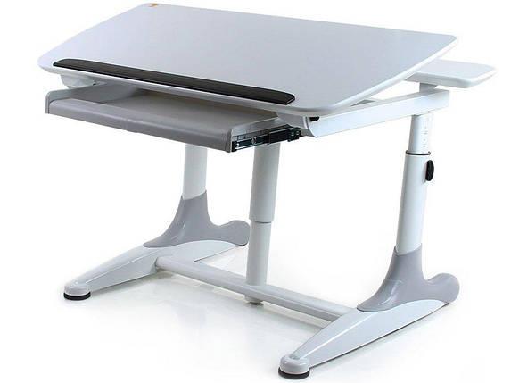 Стол Mealux Kant White (BD-311 White) - столешница белая / накладки на ножках серые, фото 2