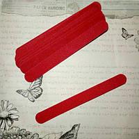 Пилка одноразовая для ногтей красная, 180/180, 18 см.